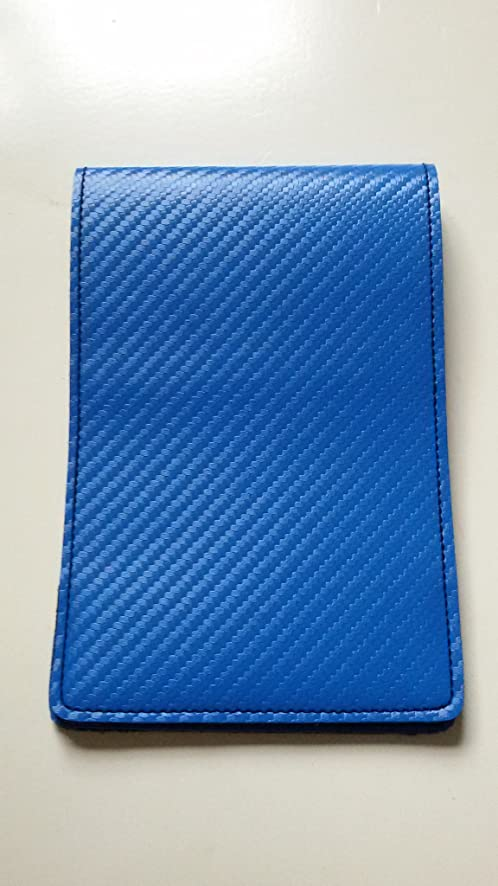 Amazon Blue Luxurious Leather Golf Scorecard Holder Yardage Book Cover PGA LPGA Top Fold Sports Outdoors