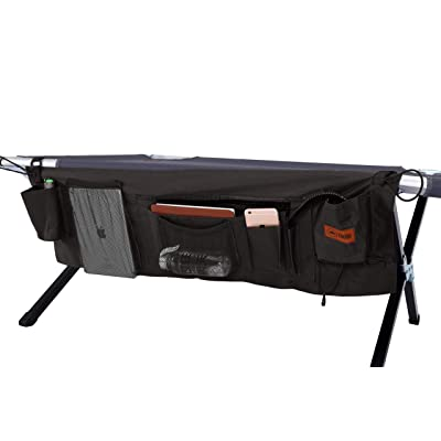 Camping Cot - Folding Military / Army Camp Bed for Adults - Portable & Heavy-Duty Sleeping Cots for Camping, Hunting & Backpacking - Foldable - Free Organizer & Storage Bag (Cot Organizer Bag ONLY): Sports & Outdoors