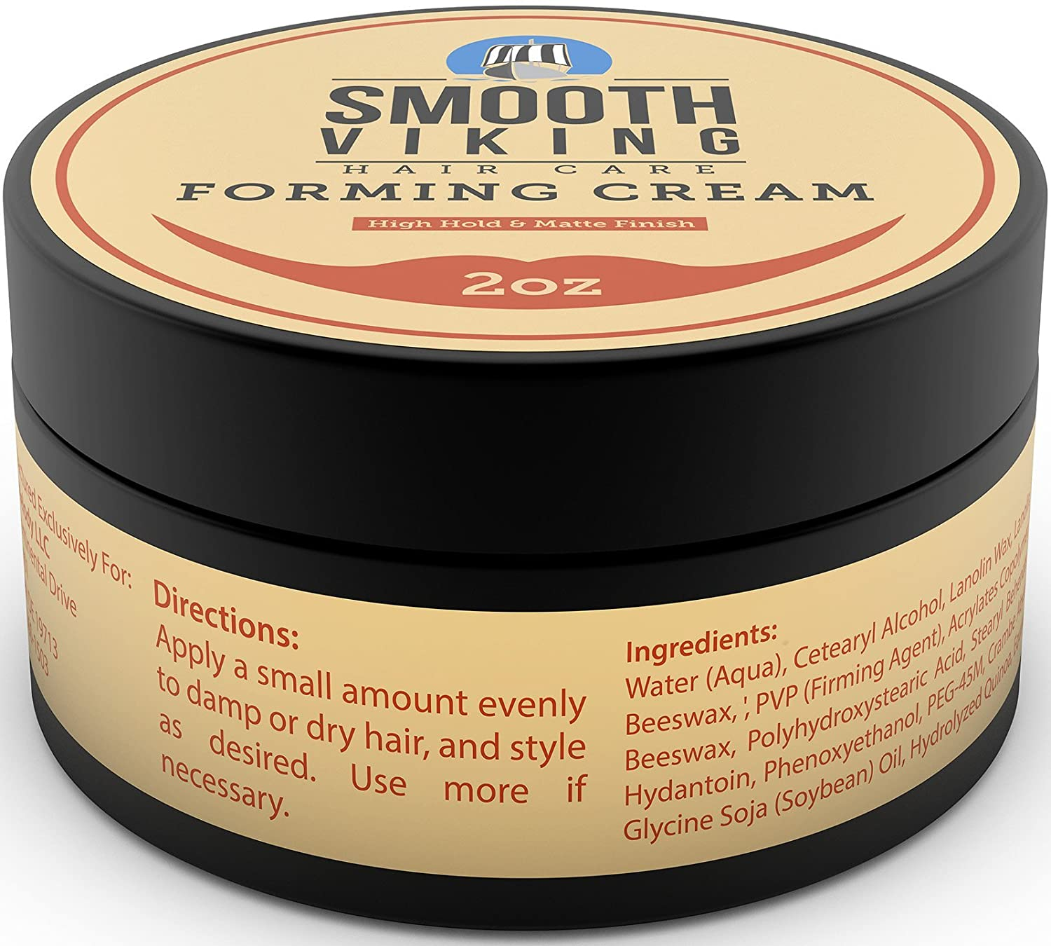 Forming Cream For Men   Hair Styling Cream For High Hold U0026 Matte Finish    Best Pliable Formula For Modern, Classic U0026 Slick Styles   Great For Short,  ...