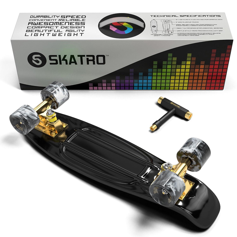 Amazon.com   Skatro - Mini Cruiser Skateboard. 22x6inch Retro Style Plastic  Board Comes Complete   Sports   Outdoors 1a3ec414278