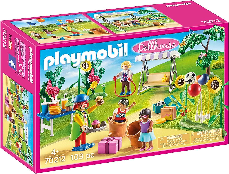 PLAYMOBIL PLAYMOBIL-70212 Dollhouse Fiesta de Cumpleaños Infantil, Multicolor, Talla única (70212)