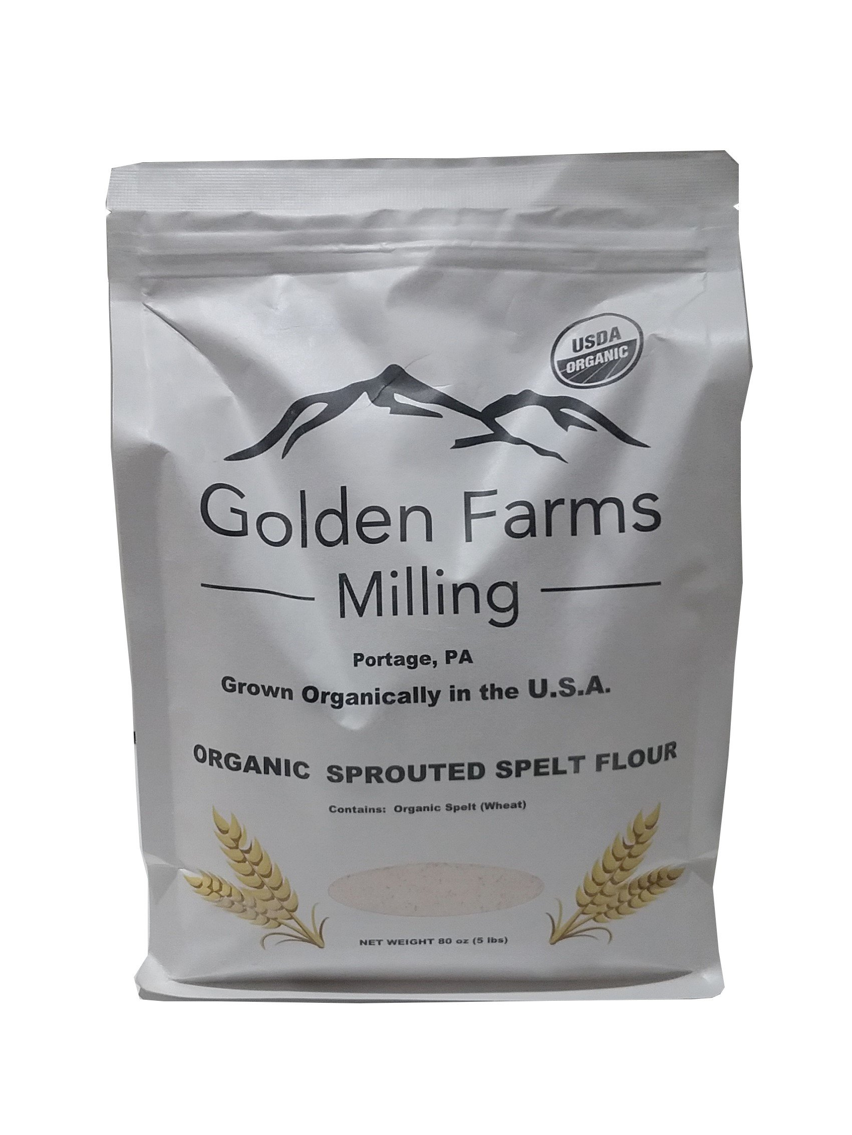 Organic Sprouted Whole Grain Spelt Flour, 80oz (5lbs)