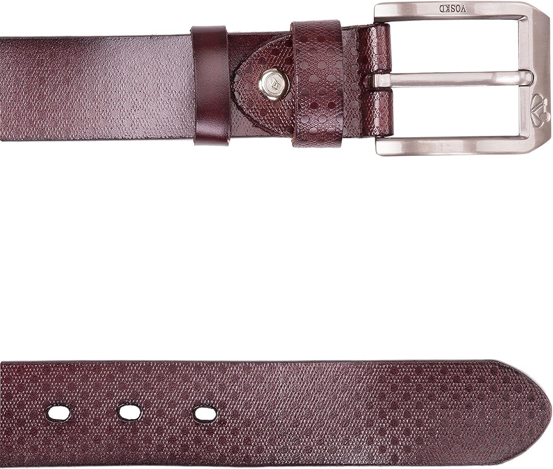 Noroze 1.5 Polka Dots Leather Belt Premium Pin Metal Buckle