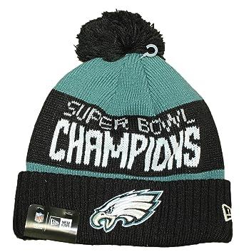 64ecd9319 New Era 100% Authentic, NWT, Philadelphia Eagles 2018 Super Bowl LII  Champions Green/Black Cuffed Pom Knit Hat