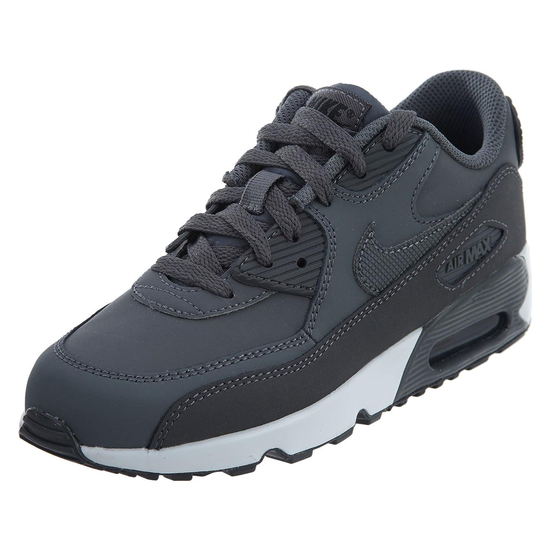 NIKE Kids Air Max 90 LTR (PS) Running Shoe B0744NKRKS 2 Little Kid M Dark Grey/ Black-white