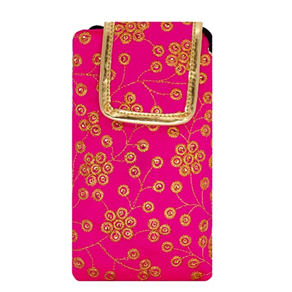 b4f95c58b2 Bagaholics Ethnic Raw Silk Saree Clutch Mobile Pouch: Amazon.in: Electronics