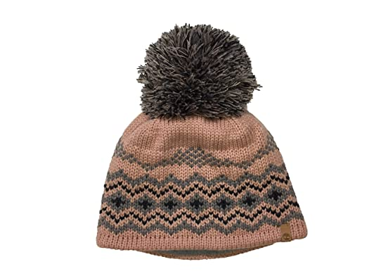 80d905857699a9 Timberland Women`s Pom Pom Fair Isle Beanie (Peach(A1EEEC-622)/Grey, One  Size) at Amazon Women's Clothing store: