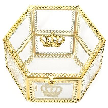 1d5deb1aab4 Amazon.com  PuTwo Gold Trinket Box