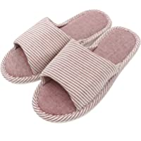 APIKA Men's and Women's Comfortable Casual Cotton Flax Anti-Slip Slipper Indoor and Outdoor Use