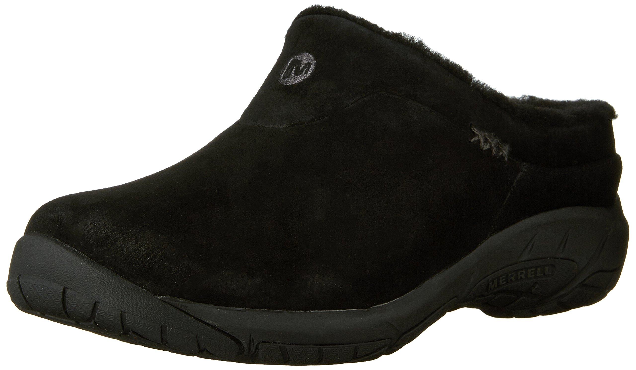 Merrell Women's Encore Ice Slip-On Shoe,Black Suede Leather,7 M US