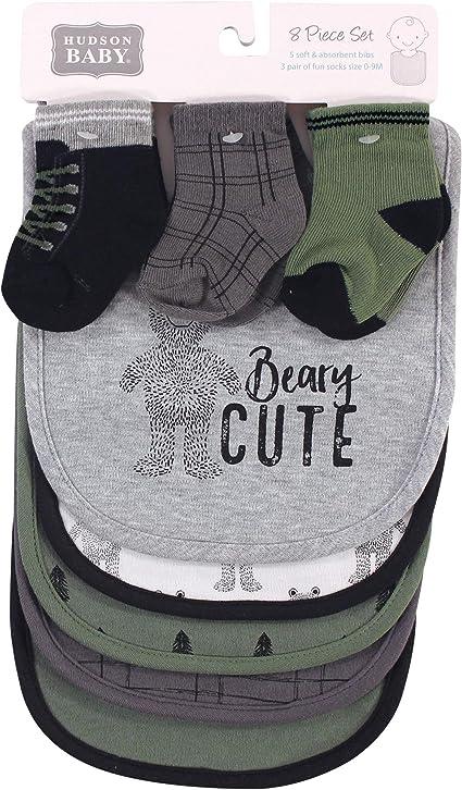Christmas Baby Bibs /& Socks Reindeer Gift Set 4 Piece Gift Set Brand New