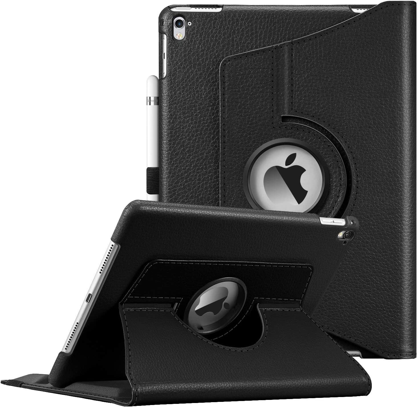Fintie Case for iPad Pro 9.7 - 360 Degree Rotating Stand Protective Cover with Smart Stand Cover Auto Sleep/Wake Feature for iPad Pro 9.7 inch (2016 Version), Black