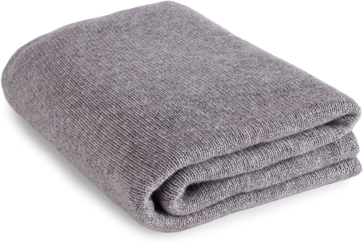 Love Cashmere Luxurious 100% Cashmere Travel Wrap Blanket - Light Gray - Handmade in Scotland RRP $660