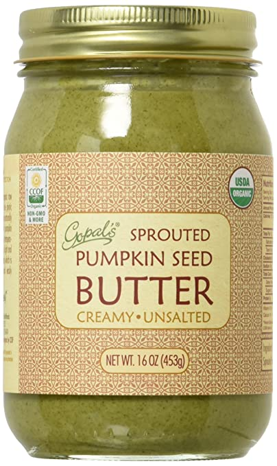 Gopal's Raw Organic Sprouted Pumpkin Seed Butter 16oz