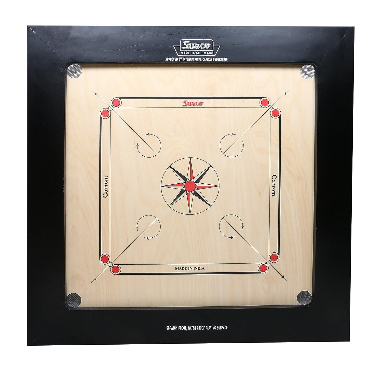 驚きの値段で KD Surco Carrom 24 Board SpeedoボードゲームボードChampionブルドッグジャンボIndian KD Ply木製ボードwith Coin Carrom、Striker &パウダー、AICF承認で使用National &国際Tournament B07C4YHR1L 24 mm, カワゴエシ:10bf7568 --- arianechie.dominiotemporario.com