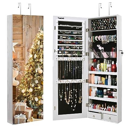 Amazon Com Tomcare Jewelry Cabinet Jewelry Armoire Wall Door