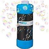 Relaxdays Seifenblasenflüssigkeit, 1x 1 Liter Nachfüllflasche, für Seifenblasenmaschine, Seifenblasenpistole