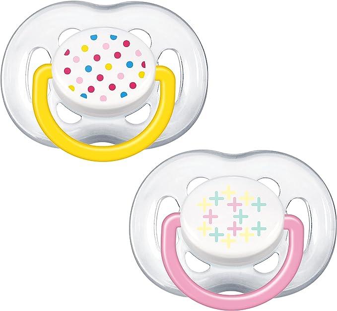 Philips Avent SCF180/28 - Pack de 2 chupetes ventilados decorados para niña de 6-18 meses: Amazon.es: Bebé