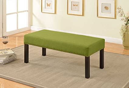 Captivating US Pride Furniture BC 1007 Fabric Upholstered Decorative Bench, Green