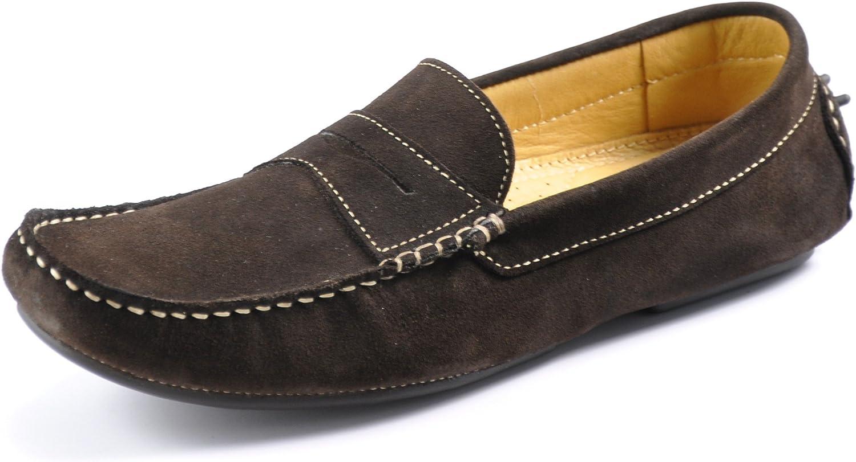 Herbert Dark Brown Suede Driving Shoes