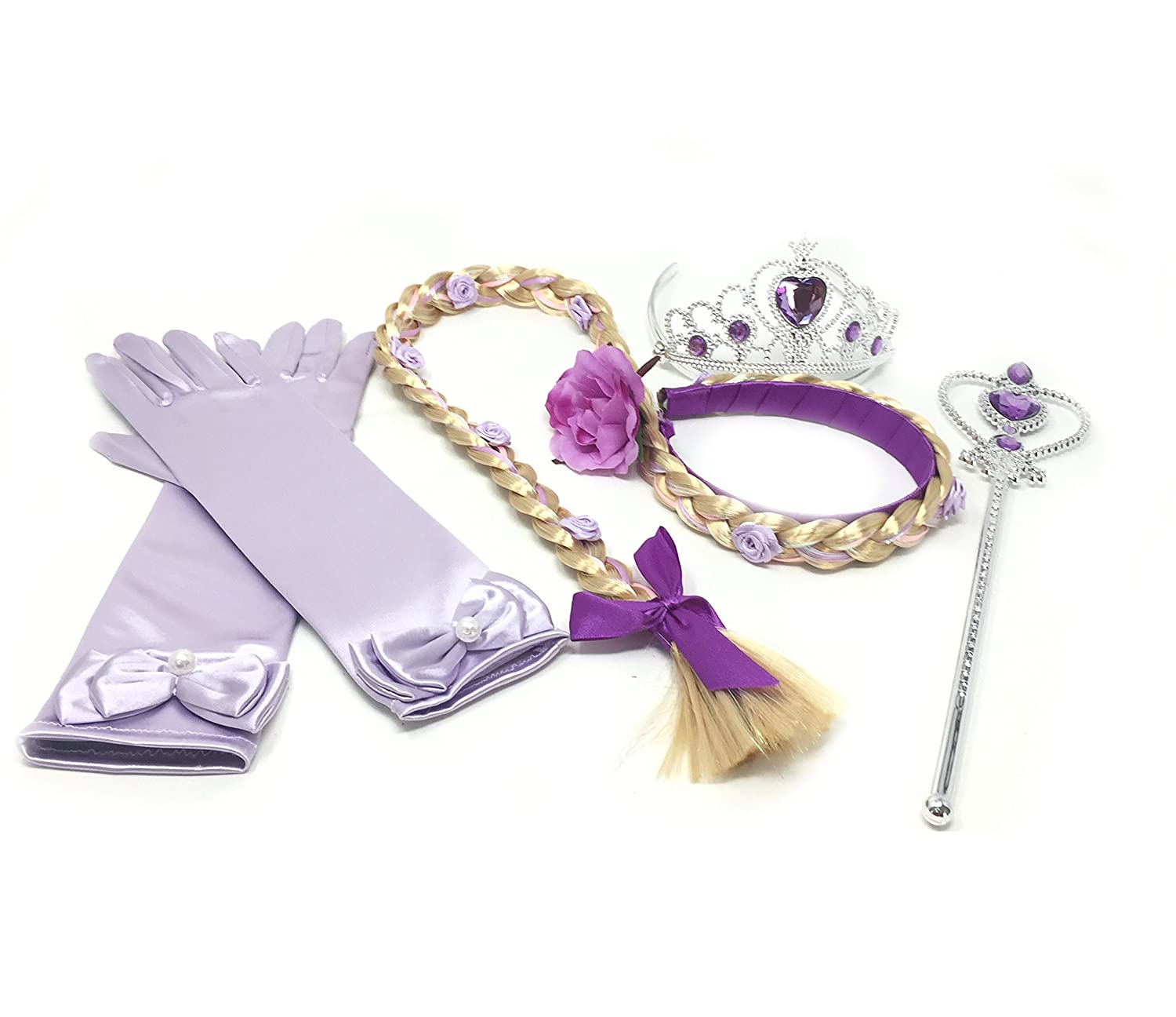 Princess Rapunzel Dress up Party 4-Piece Accessories Gift Set