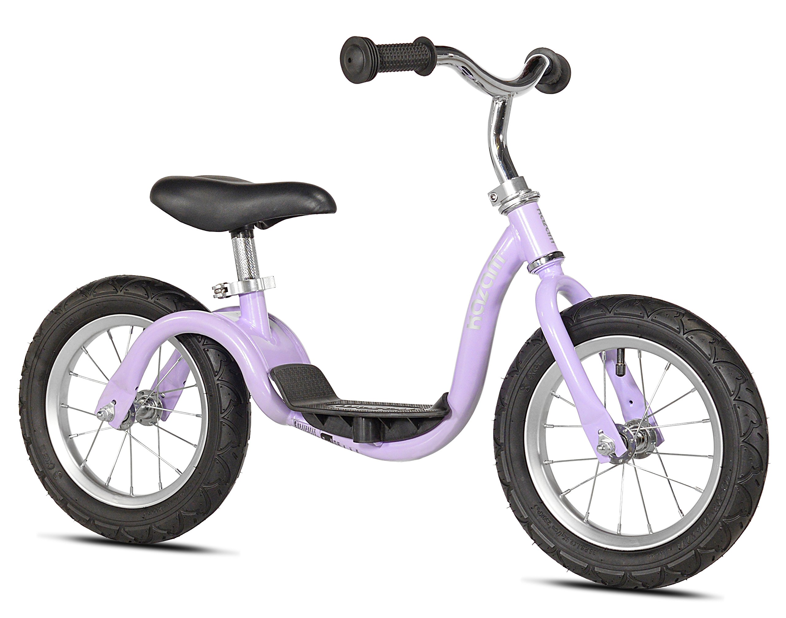 KaZAM v2s No Pedal Balance Bike, 12-Inch, Metallic Purple