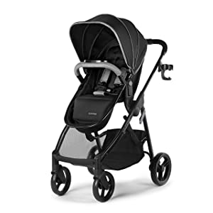 Summer Myria Modular Stroller, Onyx Black – Car Seat Compatible, Lightweight Stroller with Convenient Features