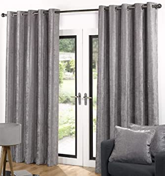 Ventura Faux Velvet Curtains 90