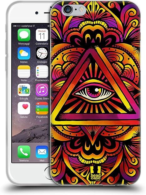 Head Case Designs Psychédélique Oeil de La Providence Coque en Gel Doux et Fonds D'Écran Design Assorti Compatible avec Apple iPhone 6 / iPhone 6s