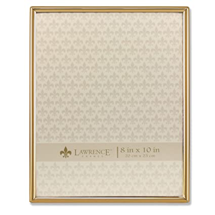 amazon com lawrence frames 8x10 simply gold metal picture frame