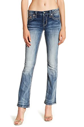 Clothing, Shoes & Accessories Women's Juniors Rock Revival Jeans Size 25 Boot Cut Reasonable Price Jeans