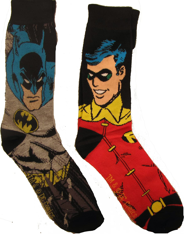 Batman and Robin socks
