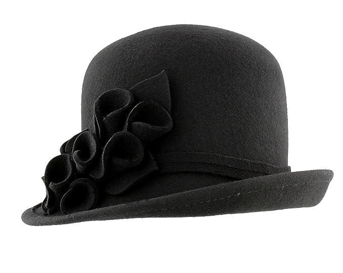 e845ad76e2d Whiteley Fischer Wool Cloche Hat from DB5026 (Black)  Amazon.co.uk ...