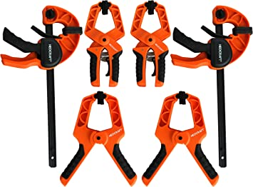 BAR CLAMP VICE 4Pc Quick Release Ratchet Set Spreader Woodwork Carpentry Quick