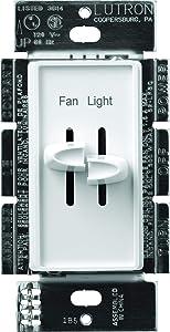 Lutron MAIN-11278, White S2-LFSQ-WH FAN CONTROLLER