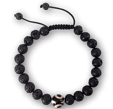 Amazon.com: Curación De Lava pulsera de perlas de lava ...