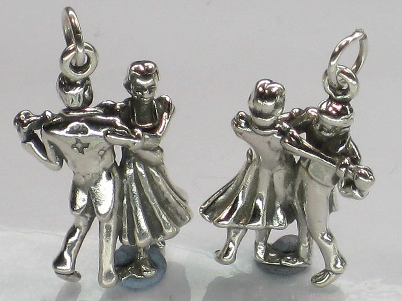 Breloque en argent sterling couple de danse .925 x 1 Charme de danseurs SSLP2768