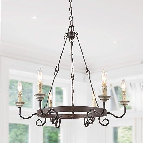 Amazon.com: LALUZ Lámpara de araña francesa para sala de ...