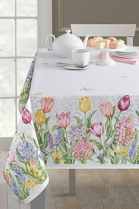 amazon com benson mills fiona spillproof easter tablecloth indoor rh amazon com