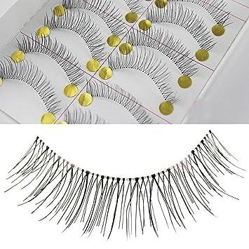 52c45b9f267 Amazon.com : ReNext 50 Pairs Natural Look Taiwan Handmade Fake False  Eyelashes Eye Lashes Transparent Stem No.218 Classical Eyelashes : Fake  Eyelashes And ...