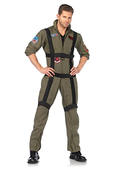Leg Avenue womens Khaki Top gun romper costume