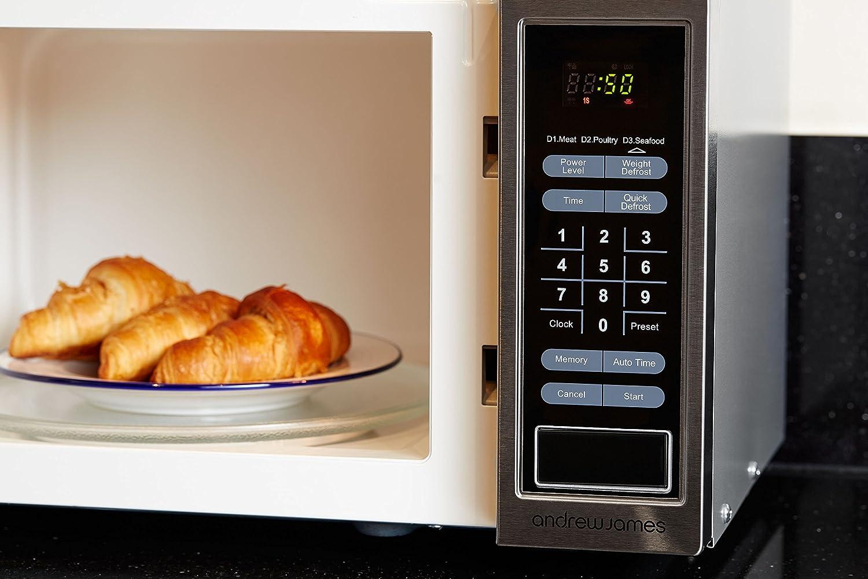 Andrew James digital microondas 23 l, 900 watts (cromo ...