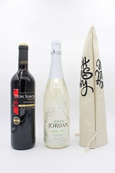 Wine Hostess Gift House Closing Present Vino Lovers Party Idea Reusable Floral Fabric Wine Bag