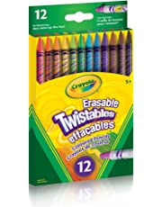 Crayola 12 Erasable Twistables Coloured Pencils, Adult Colouring Pencil Crayons, Bullet Journaling, School and Craft Supplies, Drawing Gift for Boys and Girls, Kids, Teens Ages 5, 6,7, 8 and Up, Holiday Gifting, Stocking , Arts and Crafts,  Gifting