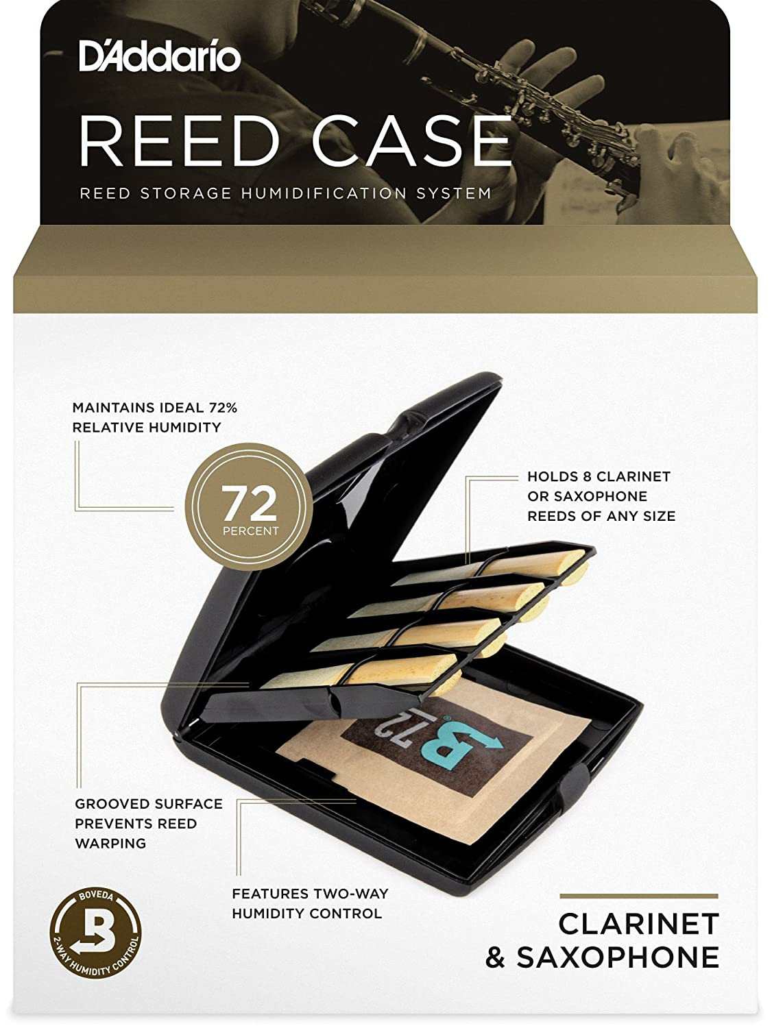 Rico Reed Storage Case with Humidity Control Pack for Oboe and Bassoon RVCASE05