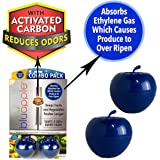 Bluapple One-Year Combo Pack with Activated Carbon Freshness Balls to Keep Produce Fresh Longer