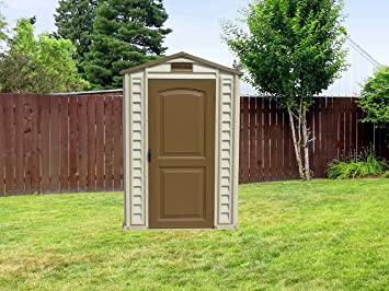 Amazon.com : Duramax 30621 StorePro Vinyl Shed with Floor, 4 by 6-Inch : Storage Sheds : Garden & Outdoor