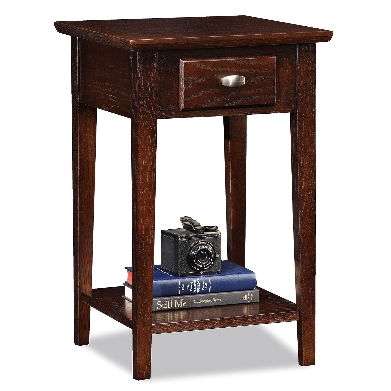 Leick Furniture Square Side Table, Chocolate Oak