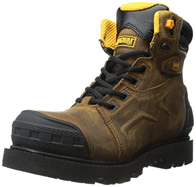Magnum Men's Flint 6.0 ZF CP Waterproof Work Boot, Coffee, ...