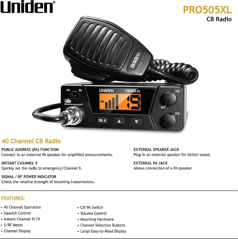 PA Speaker Black Fits MOST CB Radios and many Marine Radios NEW 3.5mm plug